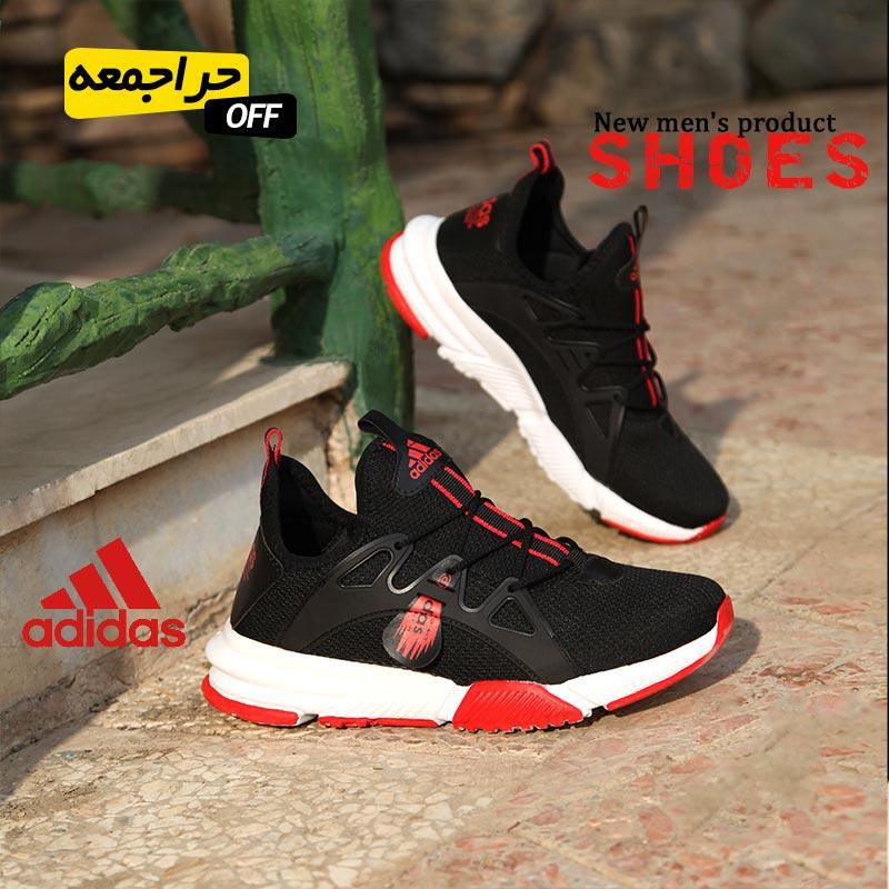 کفش مردانه adidas مدل Bandes(مشکی قرمز)