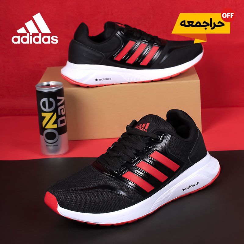 کفش مردانه  adidas مدل rezi (مشکی قرمز)