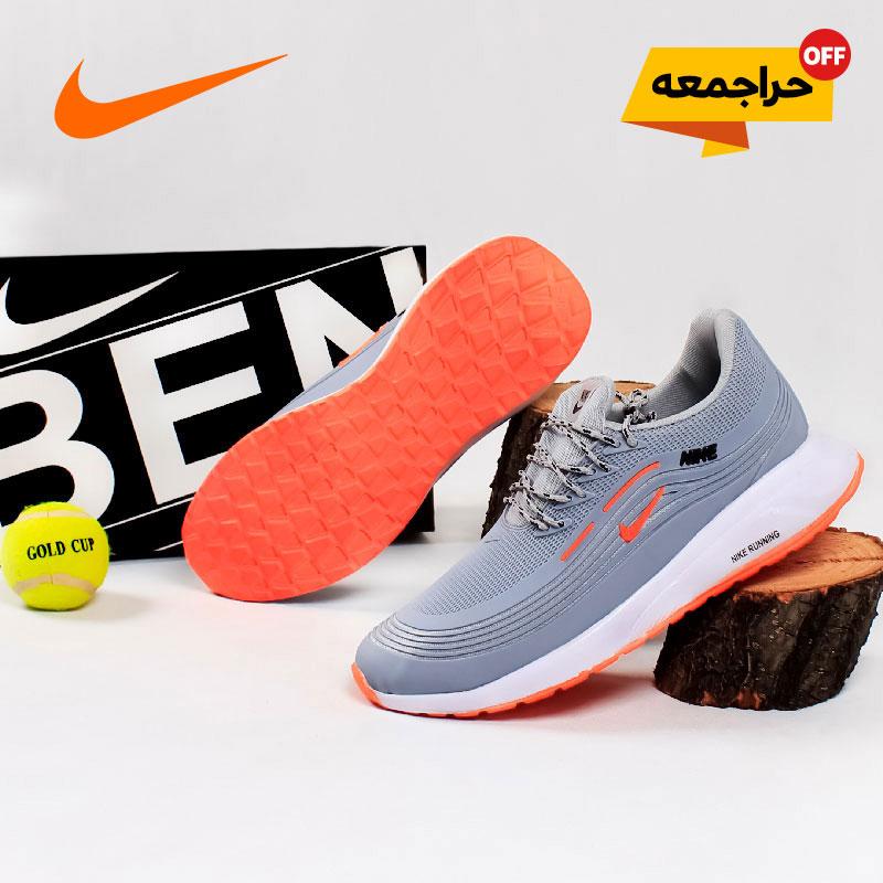 کفش مردانه NikeمدلRan(طوسی نارنجی)