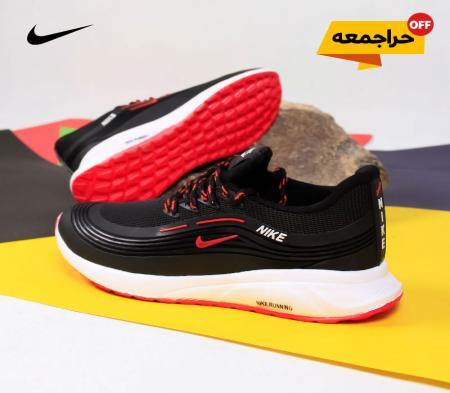 کفش مردانه NikeمدلRan(مشکی قرمز)