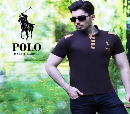 تیشرت یقه ایستاده polo (مشکی)