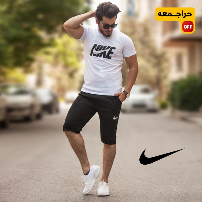 ست تیشرت و شلوارک Nike مدل Seven